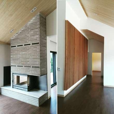 파주주택: 아키프레임 ArchiFrame Architect의  거실