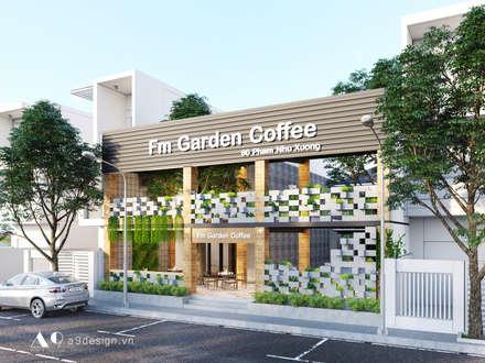 Fm Garden Coffee:  Nhà thép tiền chế by Công Ty Cp Thiết Kế Kiến Trúc Và Xây Dựng A9 Design