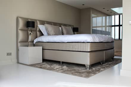 Gietvloer in Slaapkamer : moderne Slaapkamer door Motion Gietvloeren