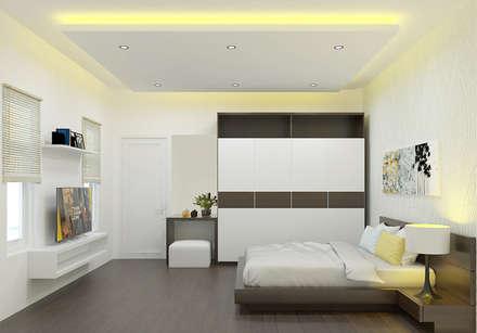 Những căn phòng với nôị thất mang phong cách riêng biệt:  Phòng ngủ by Công ty TNHH Xây Dựng TM – DV Song Phát