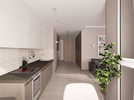 кухня: Встроенные кухни в . Автор – EEDS design