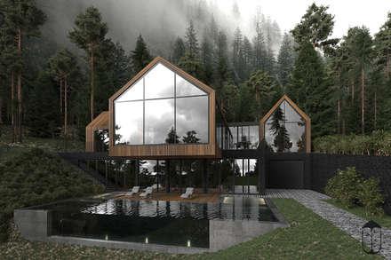 Forest house: Дома в . Автор – U-Style design studio