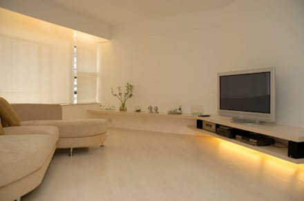 Park Towers: modern Living room by Clifton Leung Design Workshop