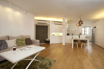 Tregunter Tower: modern Living room by Clifton Leung Design Workshop