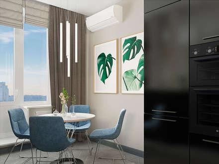 столовая зона: Столовые комнаты в . Автор – EEDS design