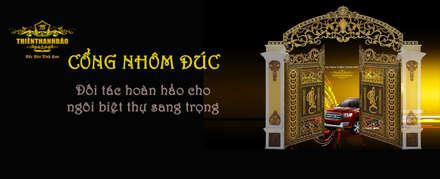 วิลล่า by Cổng nhôm đúc Thiên Thanh Bảo