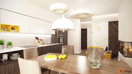 Кухня-столовая в современном стиле: Встроенные кухни в . Автор – Art-i-Chok