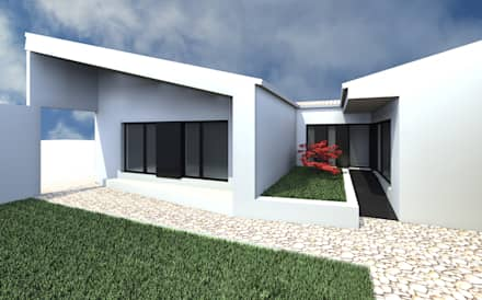 Casa SP - Render: Casas unifamilares  por 2FCS - Arquitectura e Decoração