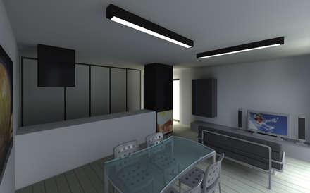 Casa SP Render interior: Casas unifamilares  por 2FCS - Arquitectura e Decoração