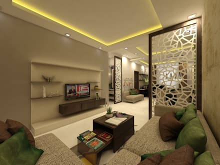 living  modern Living room by Regalias India Interiors Infrastructure Room design ideas interiors pictures homify
