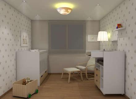 Dormitorio infantil - Estrellitas: Habitaciones de bebé de estilo  de KIDSDECOR