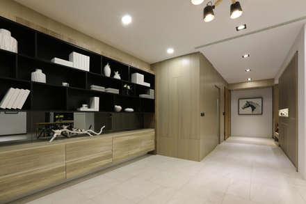 人文自然派的no.229舍-場景-客廳:  書房/辦公室 by 喬克諾空間設計
