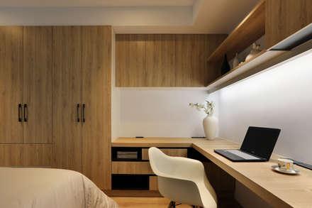 人文自然派的no.229舍-:  臥室 by 喬克諾空間設計