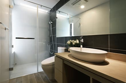 人文自然派的no.229舍-場景-更衣/衛浴:  浴室 by 喬克。諾室內設計研究工作室