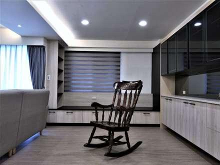 清質暖居:  書房/辦公室 by 喬克諾空間設計