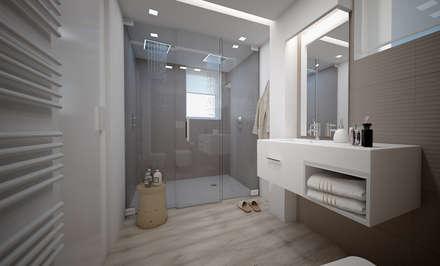 Private Bathroom: Bagno in stile in stile Moderno di olivia Sciuto