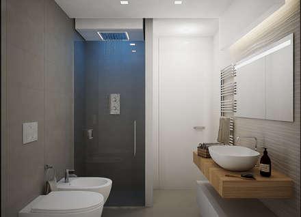 Idee arredamento casa interior design homify - Progetto bagno 2x2 ...