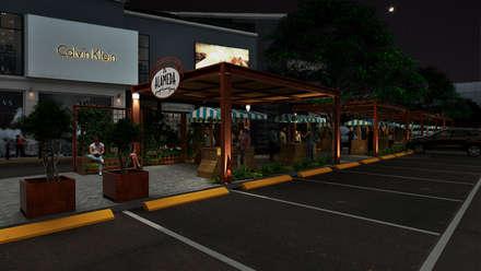LATERAL ALAMEDA : Espacios comerciales de estilo  por PROMENAD ARQUITECTOS