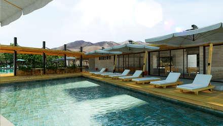 piscina piscinas de jardn de estilo por promenad arquitectos - Piscinas Jardin