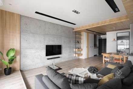 غرفة المعيشة تنفيذ 極簡室內設計