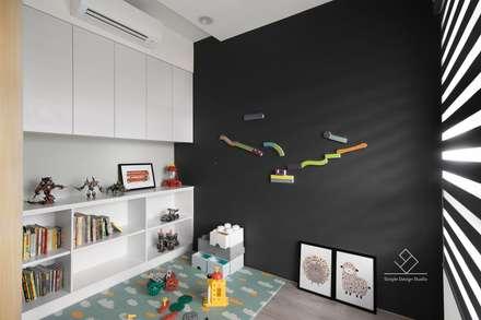 遊戲房設計:  嬰兒/兒童房 by 極簡室內設計 Simple Design Studio