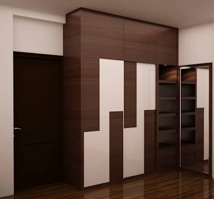 Full height wardrobe : modern Dressing room by NVT Quality Build solution