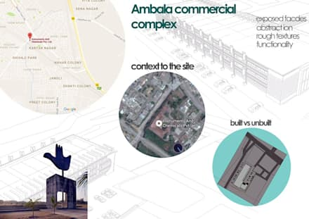 INCO Ambala Commercial Complex, Ambala, By Samadhan Architects:  Offices & stores by Samadhan Architects