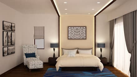 Headboard And Ceiling Design : Modern Bedroom By NVT Quality Build Solution