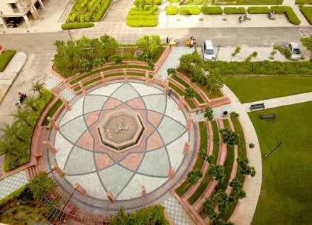 Rangoli Plaza: modern Garden by NMP Design