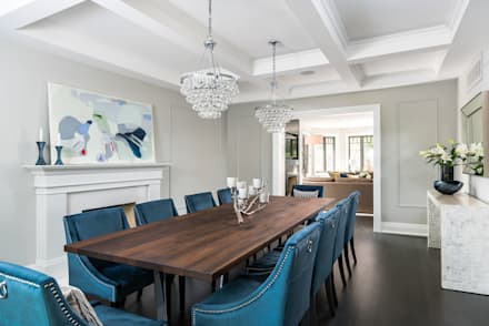 Casually Elegant Dining: modern Dining room by Frahm Interiors