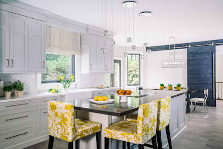 Bright and Cheery Kitchen: modern Kitchen by Frahm Interiors
