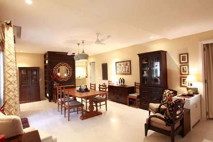 Lotus Apartment: modern Dining room by Saloni Narayankar Interiors