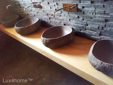 Natural stone bathroom sinks - stone wash basins: scandinavian Bathroom by Lux4home™ Indonesia