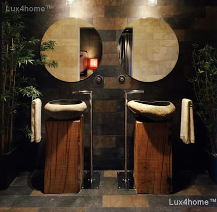 Natural stone bathroom sinks - stone wash basins: tropical Bathroom by Lux4home™ Indonesia
