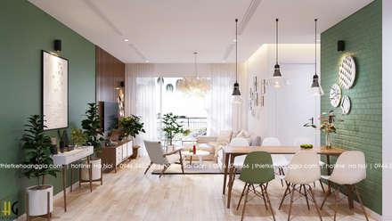 asian Living room by Nội Thất Hoàng Gia