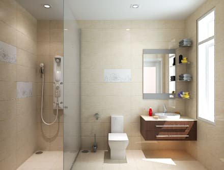 Bagno in stile in stile Asiatico di Công ty TNHH Thiết Kế Xây Dựng Song Phát