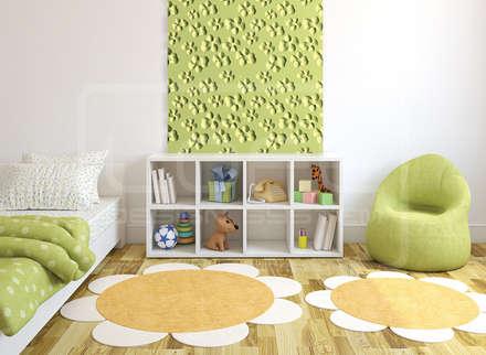 Wandpaneele 3D -  Blumenmuster:  Kinderzimmer Mädchen von Loft Design System Deutschland