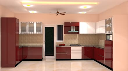 kitchen interior design images. Amanora Park Pune  Pent House modern Kitchen by DECOR DREAMS Modern Style Design Ideas Pictures Homify
