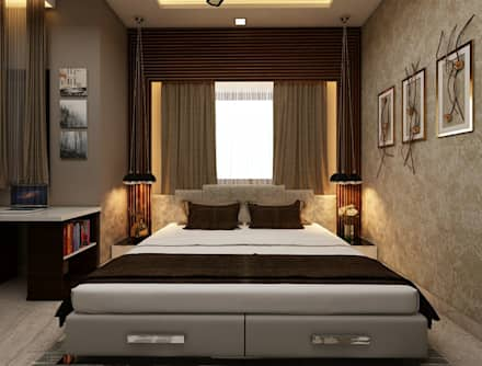 Amanora Park Pune   Pent House: Modern Bedroom By DECOR DREAMS