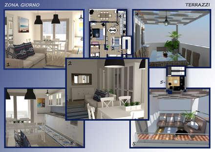 Arredamento casa al mare: Sala da pranzo in stile in stile Mediterraneo di Valentina Nencini Architetto