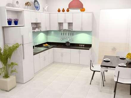 Thiết Kế Nhà Ống 2 Tầng 50m2 Với Chi Phí Tiết Kiệm 500 Triệu:  Tủ bếp by Công ty TNHH Xây Dựng TM – DV Song Phát