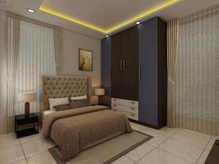 Bedroom: Modern Bedroom By Regalias India Interiors U0026 Infrastructure
