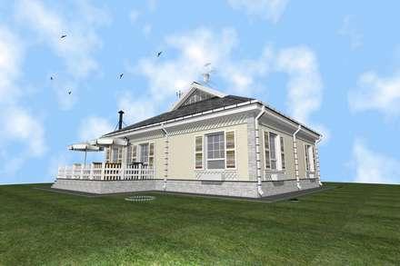 Casas campestres de estilo  por архитектурная мастерская МАРТ