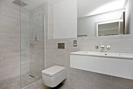 Case Study: The Plane House : minimalistic Bathroom by BathroomsByDesign Retail Ltd