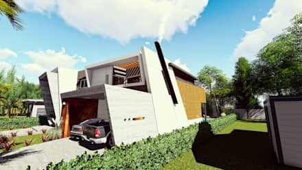 Casa AP: Dormitorios de estilo moderno por Módulo 3 arquitectura