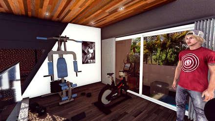 Casa AP: Gimnasios de estilo moderno por Módulo 3 arquitectura