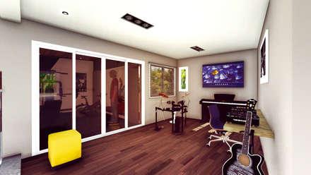 Casa AP: Estudios y oficinas de estilo moderno por Módulo 3 arquitectura