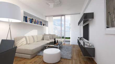 ห้องนั่งเล่น by Estudio Allan Cornejo Arquitecto