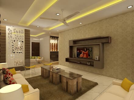 Beau Living Room: Modern Living Room By Regalias India Interiors U0026 Infrastructure