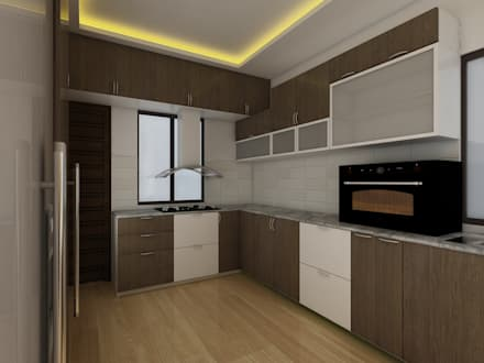 Kitchen:  Kitchen units by Regalias India Interiors & Infrastructure